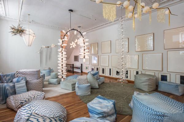 NYC Showroom,lighting designer,Lindsey Adelman Crafts Desert Oasis in NYC Showroom